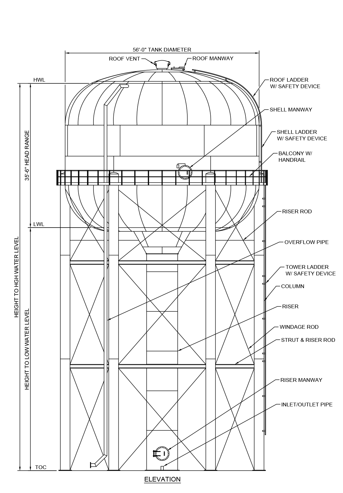 Elevated Water Tank Design And Engineering Phoenix